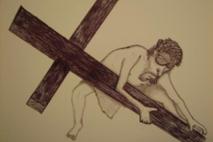 Jesus Pen and Ink